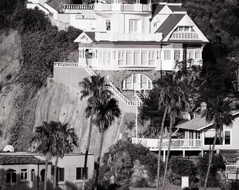 Catalina Island California, Black & White Photography, Victorian Architecture, Los Angeles California, Black and White Picture, Photo Print