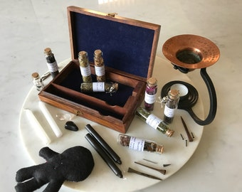 Apothecary Herb Kit,Wiccan, Altar Box.