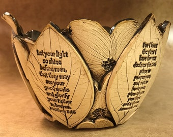 Large Scripture Dogwood Bowl 149