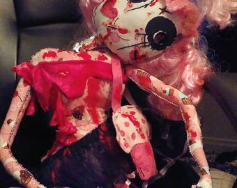 Crazy Zombie doll/Gothic doll/Valentine's Day Horror doll/Voodoo doll/Creepy doll/Halloween doll/Living dead/Witch/Evil/Nightmare/Horror art