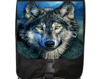 Grey Wolf - Black School Backpack