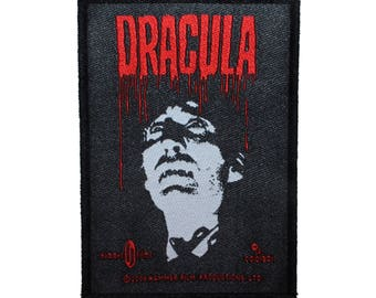 Hammer Films Dracula Patch Classic Horror Movie Vampire Woven Sew On Applique