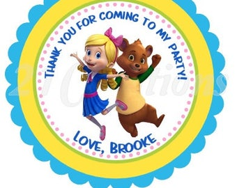 Goldie and Bear Personalized Stickers