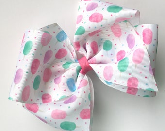 Extra large boutique bow cotton candy print, extra large hair bow, big boutique hair bow, large boutique hair bow, summer hair bow