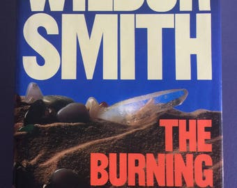 The Burning Shore by Wilbur Smith, Signed, First Edition