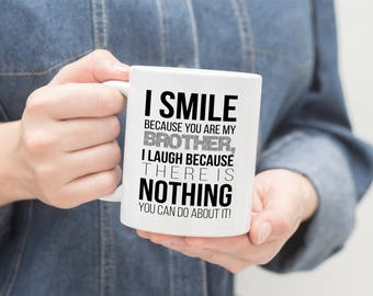 Funny brother gift etsy brother mug gift negle Image collections