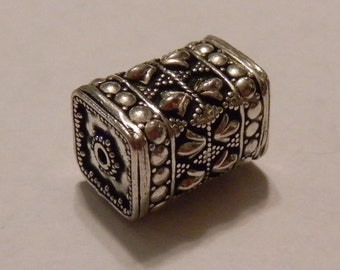 Sterling Silver Very Large Rectangular Bead
