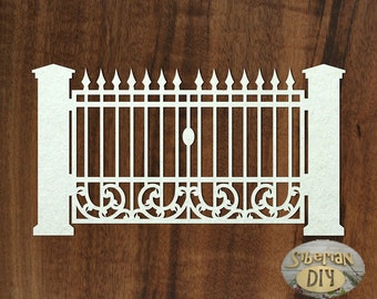 "Laser Cut Chipboard ""Gate [2]"""