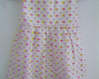Dress with pleated waist