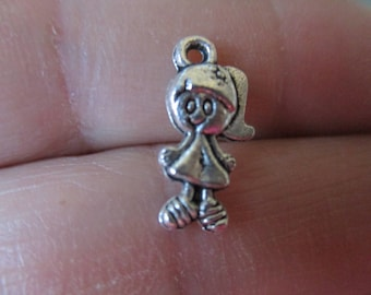 Set of 10 Little Girl Charms