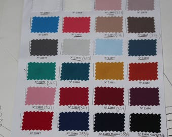 Fabric samples - caresses of eyes