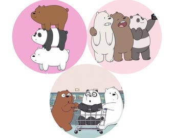 We Bare Bears Pin Set