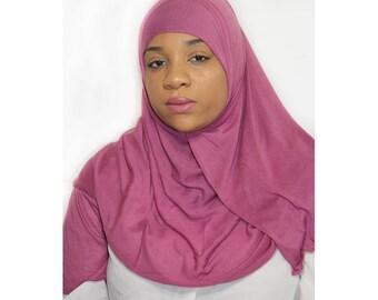 Pink Plum Jersey Hijab