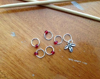 Holly Stitch Markers