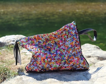 small rainbow bag