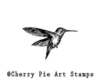HUMMINGBIRD - CLiNG Rubber STAMP by Cherry Pie C117