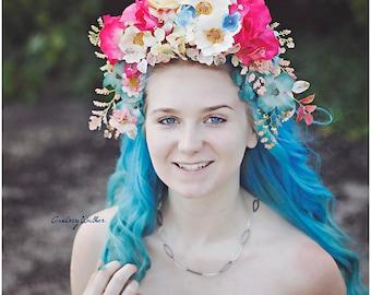 Neutral Pink Flower Crown