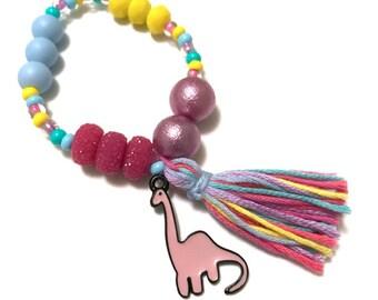 Dinosaur Charm Bracelet - dinosaur jewelry, dinosaur charm, dino, dinosaur, dino bracelet, animal charms, girl dinosaur, dinosaur party