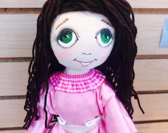 Interior doll,OOAK, Owl doll,Art doll, Handmade doll, Textile doll,Soft doll,Fabric doll, Cloth doll, Rag doll, unique doll