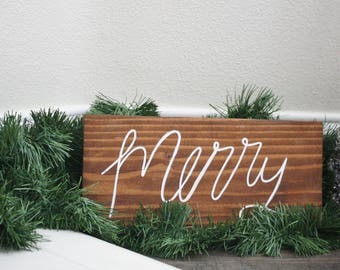 Merry Wood Sign