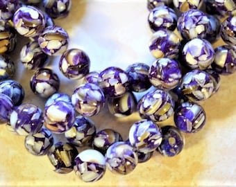 Mother of Pearl purple beads