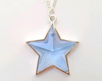 Swarovski star necklace, crystal star necklace, swarovski necklace, swarovski jewelry, star necklace, star jewelry, crystal necklace