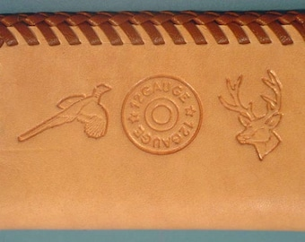 Natural Leather Business Card Case for the Hunter Sportsman - L076