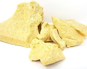 1 lb UNREFINED COCOA BUTTER Raw PRiMe PReSSeD Pure All Natural Golden Yellow Body Butter Lotion Soap Chocolate Scent 16 oz