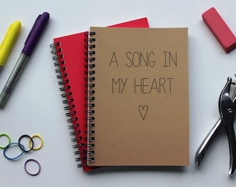 A Song in my Heart - 5 x 7 journal