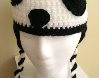 Panda Earflap Hat