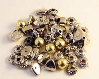 Sliver and Gold Plated CCB Acrylic Bead Mix