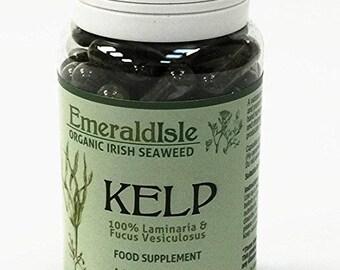 Kelp seaweed tablets 500 mg 90 Capsules Certified Organic Harvested in North Atlantic Coast of Ireland