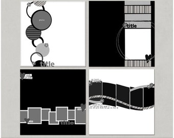 Edge to Edge - 12x12 Digital Scrapbooking Templates
