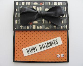 Happy Halloween Gift Card Holders, Money Card Envelopes, Gift Card Holders, Money Holders, Holiday Gift Card Holders, Halloween Card