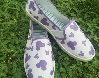 Lavender mickey head shoes