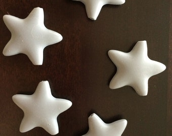 Large Gray Star Silicone Teething Bead