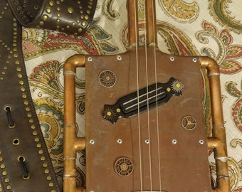 Copper Steampunk Electric Slide Guitar