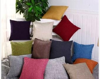 Linen Pillow Case, 18 x 18 In. Blank Pillow Case, Pillowcase Covers, Decorative Cushion Cover, Pillowcase for Sofa, Pillowcase for printing