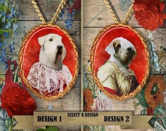 Sealyham Terrier Jewelry Sealyham Gift Sealyham Charm Sealyham Terrier Pendant Sealyham Print Custom Dog Porcelain Jewelry Nobility Dogs