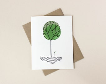 Father's Day Card: Tree and Sprout