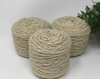 Yarn Recycled Lambswool Angora Cashmere Blend 3 Cakes 642 Yards 7.7 Oz Lot 687