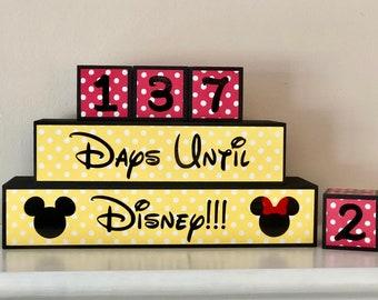 Disney Vacation Countdown Blocks