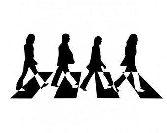 The Beatles Abbey Road Vinyl Cut Sticker Decal