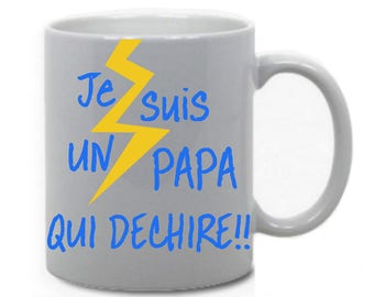 "Mug ""I'm a dad who rocks"""