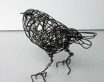 Original Handmade Wire Bird Sculpture -  BUTTERCUP