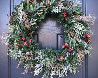 Winter Wreaths, All Season Wreath, Christmas Wreaths, Winter Decor, Door Wreaths Winter, Gift for Her, Winter Door Decor, Evergreen Wreaths