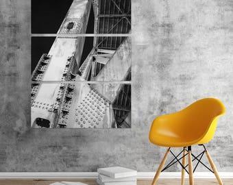 Bridge Girders Right Industrial City Triptych Metal Wall Art