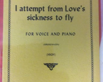 Purcell - I attempt from loves sickness to fly (Sergius Kagen) 1959 Mint