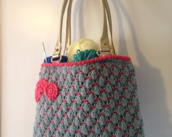 Granny Bag Blue and Pink