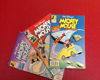Walt Disney's Mickey Mouse Adventures,1991(3 comic books for the price)-FreeUS Shipping